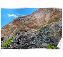 Beach Rock Cliff Landscape Poster