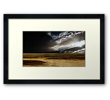 Storm Clouds Over The Isthmus Framed Print