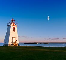 Lighthouse in moon light  by 3523studio