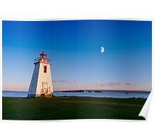 Lighthouse in moon light  Poster