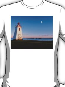 Lighthouse in moon light  T-Shirt