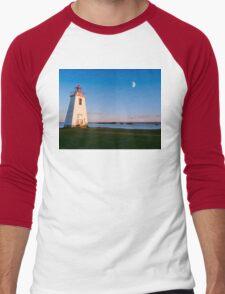 Lighthouse in moon light  Men's Baseball ¾ T-Shirt