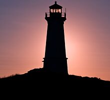 Lighthouse during sunrise in the early morning by 3523studio