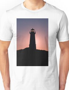 Lighthouse during sunrise in the early morning Unisex T-Shirt