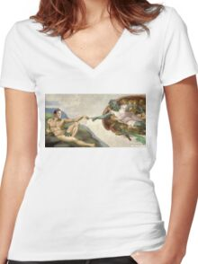 The Creation of Kirk Women's Fitted V-Neck T-Shirt