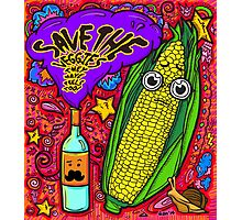 Save The Veggies - Corn Photographic Print