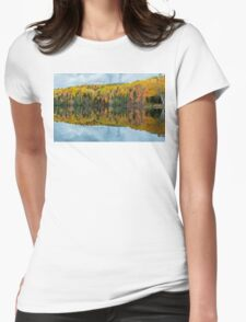 Beautiful reflections of a autumn forest  Womens Fitted T-Shirt