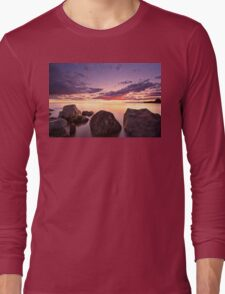 Sea at sunset with some motion blur water Long Sleeve T-Shirt
