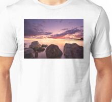 Sea at sunset with some motion blur water Unisex T-Shirt