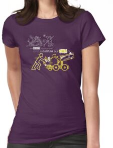 We Reject Your Cannon (Yellow Version) Womens Fitted T-Shirt