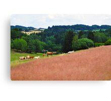 Countryside Cattle Farm Canvas Print