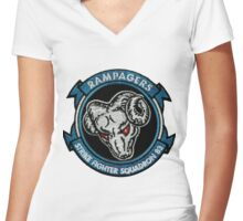 VFA-83 Rampagers Women's Fitted V-Neck T-Shirt