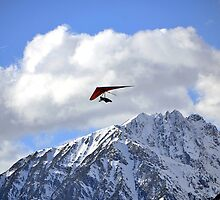 Hang glider just after launch by Elzbieta Fazel
