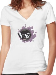 Rick Gastly Women's Fitted V-Neck T-Shirt