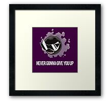 Never Gonna Give You Up Framed Print
