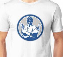 Barber Hair Clipper Scissors Retro Unisex T-Shirt