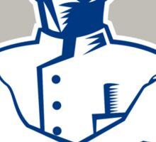 Barber Hair Clipper Scissors Retro Sticker