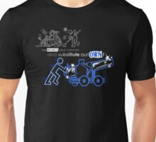 We Reject Your Cannon (Blue Version) Unisex T-Shirt