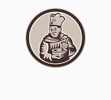 Chef Cook Mixing Bowl Woodcut Retro Unisex T-Shirt