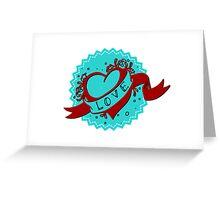 Vintage heart Greeting Card