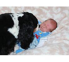 Grandson - David James Timothy & Charlie Girl  Photographic Print