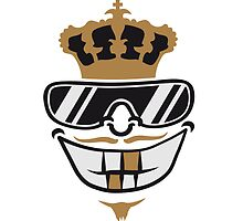 King party grin Crown sunglasses mustache by Style-O-Mat