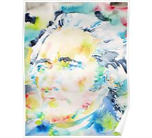 ALEXANDER HAMILTON - watercolor portrait Poster