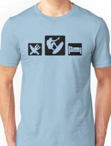 Eat SURF Sleep Unisex T-Shirt