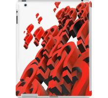 question mark iPad Case/Skin
