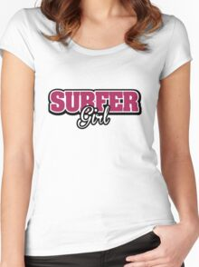Surfer Girl Women's Fitted Scoop T-Shirt