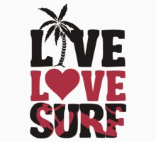 Live Love Surf Kids Tee