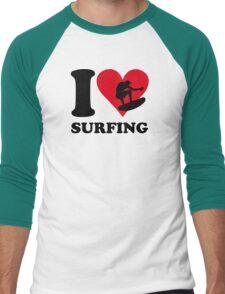 I love surfing Men's Baseball ¾ T-Shirt