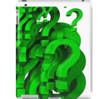 many question mark iPad Case/Skin