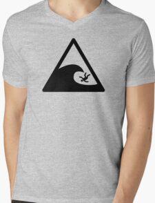 Wave sign - Accident Mens V-Neck T-Shirt
