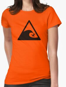 Wave sign - Accident Womens Fitted T-Shirt