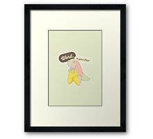 Word, to your Dino' Framed Print