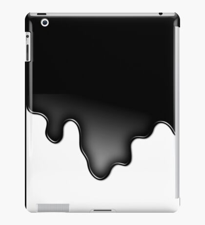 Black liquid or oil iPad Case/Skin