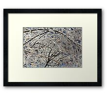 Winter Freezing Framed Print