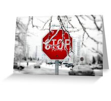 Iced Stop Greeting Card