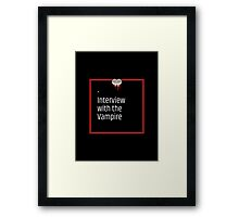 Interview With The Vampire Framed Print