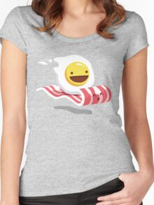 Egg Bacon Buddies Women's Fitted Scoop T-Shirt