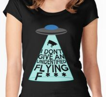 I Don't Give An Unidentified... (Clean Version) Women's Fitted Scoop T-Shirt