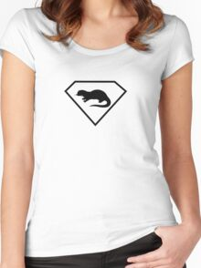 The Batch Symbol Women's Fitted Scoop T-Shirt