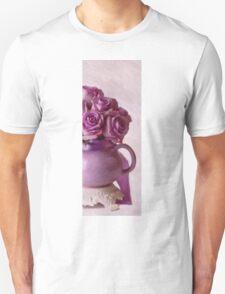 Lavender Roses And Tea Pot Unisex T-Shirt