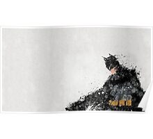 Abstract Oil Batman Poster