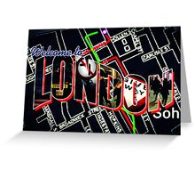 Welcome To London - Sherlock Version #1 Greeting Card