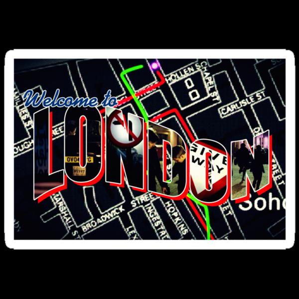 Welcome To London - Sherlock Version #1 by sittingdowntype