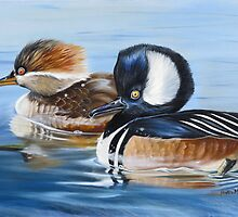 Hooded Merganser Pair by Phyllis Beiser