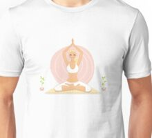 Beautiful woman doing yoga practice Unisex T-Shirt