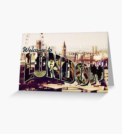 Welcome To London - Sherlock Version #2 Greeting Card